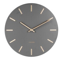 Ceas de perete Karlsson 5821GY, de designdiam. 30 cm