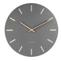Karlsson 5821GY Stylowy zegar ścienny śr. 30 cm