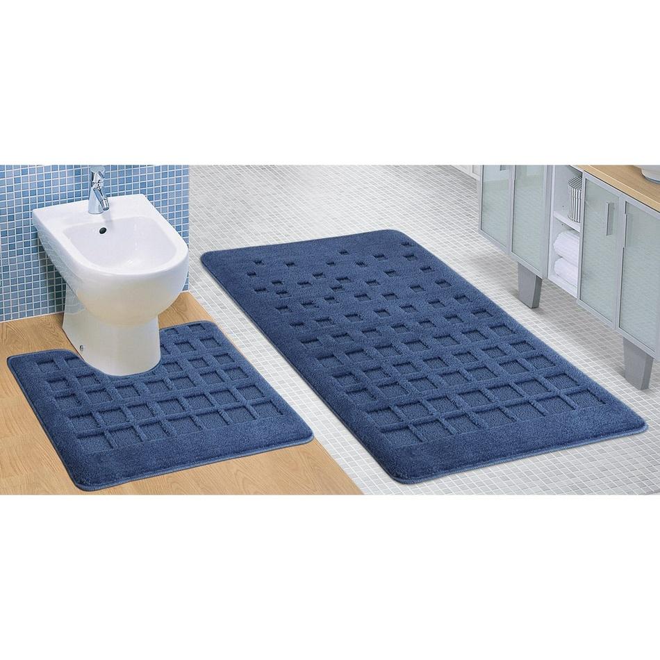 Bellatex Koupelnová sada-STANDARD Modrá dlaždic