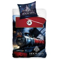 Lenjerie din bumbac Harry Potter Hogwarts Express, 140 x 200 cm, 70 x 90 cm