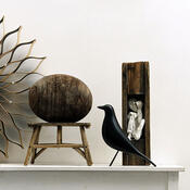 Dekorace Eames House Bird 27 cm, černá