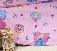 Dětské bavlněné povlečení do postlýlky Princezny, 90 x 130 cm, 40 x 60 cm