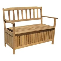 Dřevěný úložný box s lavičkou Edita, 120 x 57 x 90 cm