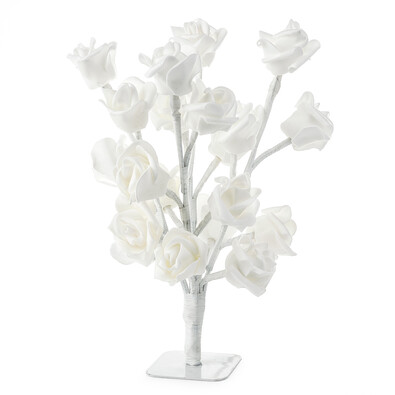 Dekorace svítící strom růže