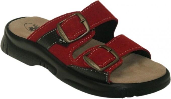 Dámské zdravotní pantofle Santé, červená, 38