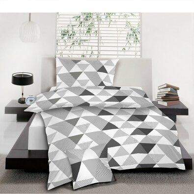 Bavlněné povlečení Trion šedá, 140 x 200 cm, 70 x 90 cm, 40 x 40 cm