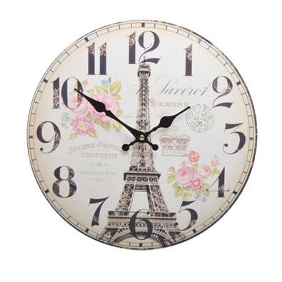 Nástěnné hodiny Eiffelová věž HLC18071