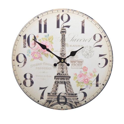 Nástenné hodiny Eiffelova veža HLC18071,