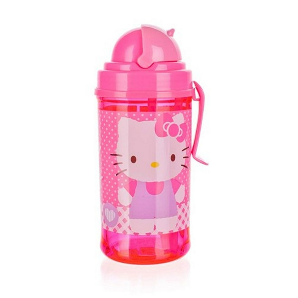 Fľaša so slamkou Hello Kitty, Banquet 1222HK37322 350 ml