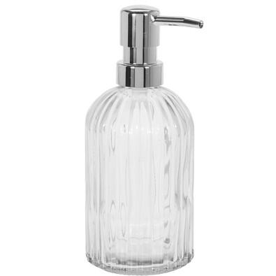 Dozator săpun lichid Glass stripes, transparent