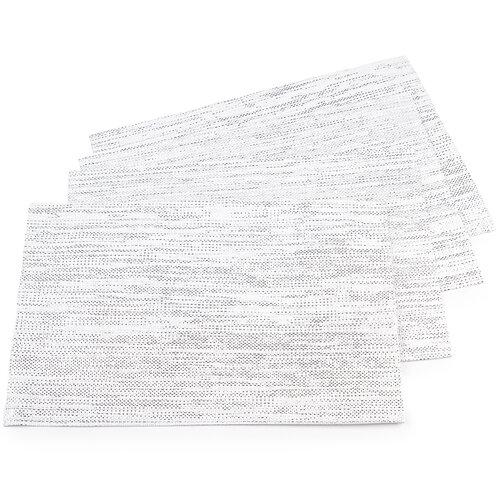 Prostírání bílá, 30 x 45 cm, sada 4 ks