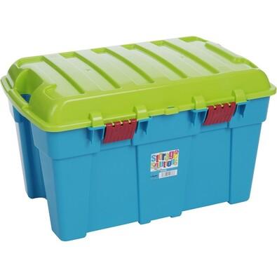Wham Box s víkem 50 l modrý
