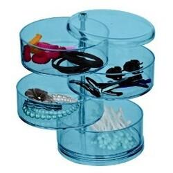 Wenko organizer na kosmetyki niebieski