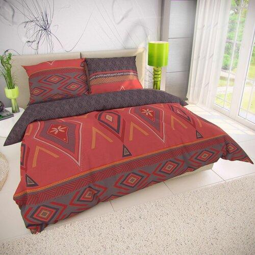 Zahira pamut ágynemű, piros, 220 x 200 cm, 2 db 70 x 90 cm