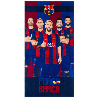 Prosop plajă FC Barcelona Barca Team, 75 x 150 cm
