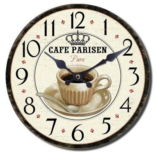 Nástěnné hodiny Cafe Parisen, pr. 28 cm