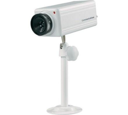 Atrapa kamery, Conrad, bílá, 50 x 46 x 127 mm