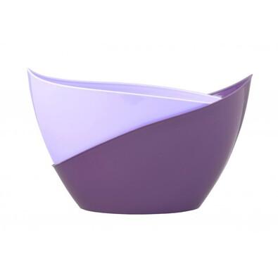 Samozavlažovací květináč Doppio sv. fialová + tm. fialová
