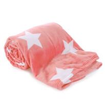 Koc Light sleep New Stars różowy 150 x 200 cm