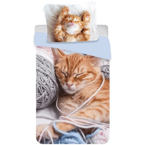 Jerry Fabrics Bavlnené obliečky Mačiatko klbko, 140 x 200 cm, 70 x 90 cm