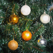 Vánoční koule na stromeček zlatá 20 kusů