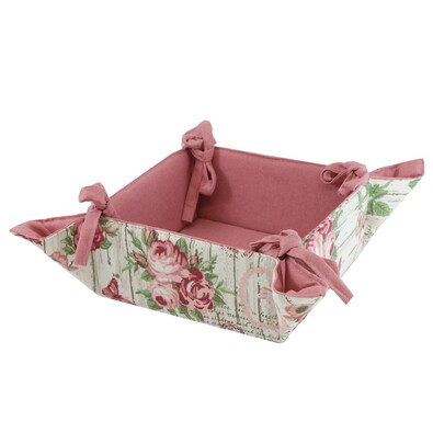 Textilní košík Růže, 34 x 34 cm
