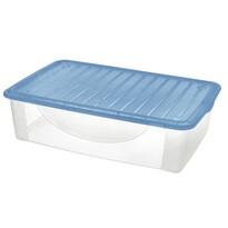Tontarelli Dodo Stock-Box z pokrywą 27 l, przezroczysty/niebieski