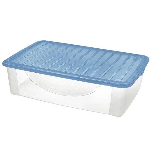 Tontarelli Dodo Stock-Box s víkem 27 l, transparentní/modrá