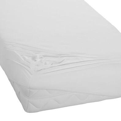 BedTex prześcieradło jersey, biały, 180 x 200 cm