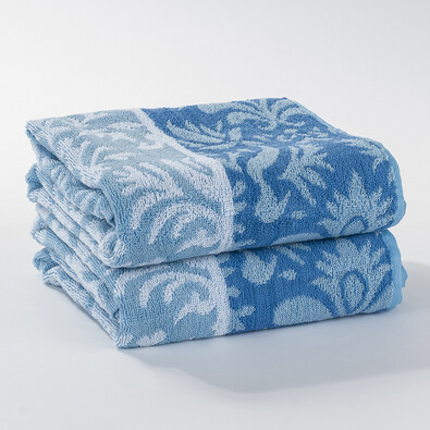 Ručník Kelly modrá, 50 x 100 cm, sada 2 ks