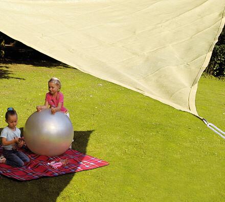 Sluneční clona trojúhelník, 5 x 5 x 5 m