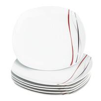 Domestic Sada mělkých talířů Amelie, 25 cm, 6 ks