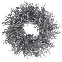 Vánoční dekorační věnec Monza pr. 25 cm, stříbrná