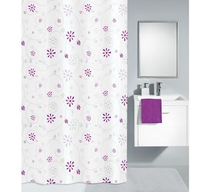 Kleine Wolke sprchový závěs Izabela fialová, 180 x 200 cm