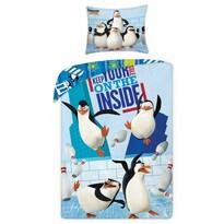 Lenjerie de pat The Penguins of Madagascar, din bumbac, pentru copii, 140 x 200 cm, 70 x 90 cm