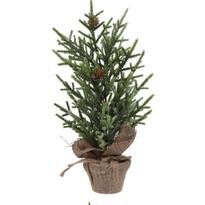 Umělý stromek se šiškami 38 cm, zelená