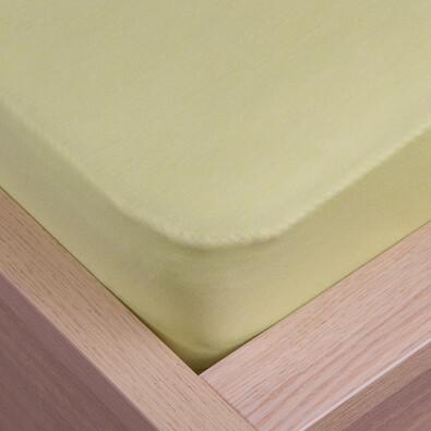 Cearșaf de pat jersey Klasik verde, 180 x 200 cm