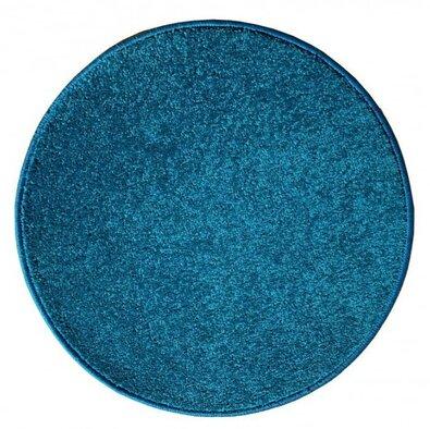 Kusový koberec Eton Lux tyrkysová, priemer 80 cm