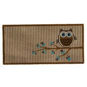 Vnitřní rohožka Owl on tree beige, 40x80 cm