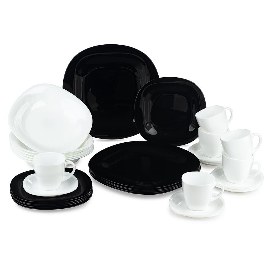 Serviciu de masă Luminarc Carine 30 piese alb-negru