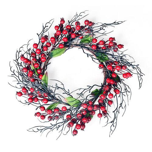 Karácsonyi koszorú Rosehips, átmérő 35 cm