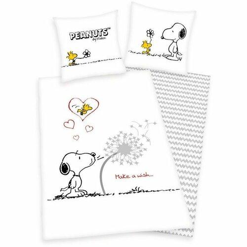 Detské bavlnené obliečky Snoopy Prianie, 140 x 200 cm, 70 x 90 cm