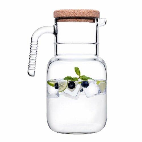 Carafă din sticlă Hoop, cu dop plută, 1,5 l
