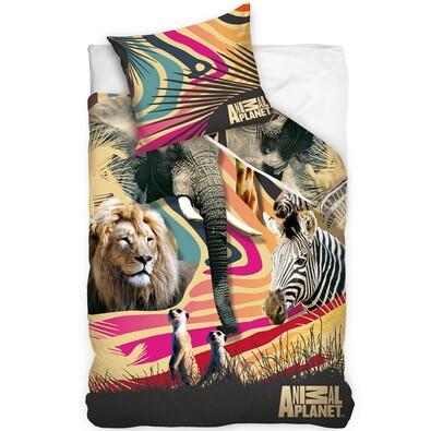 Bavlněné povlečení Animal Planet - Afrika, 140 x 200 cm, 70 x 80 cm