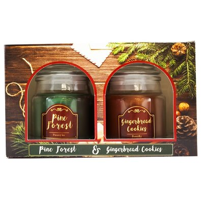 Sada vonných sviečok Pine Forest and Gingerbread cookies, 2 ks