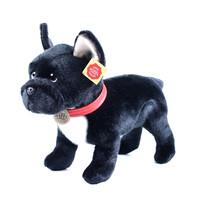 Rappa plüss francia bulldog nyakörvvel, 30 cm