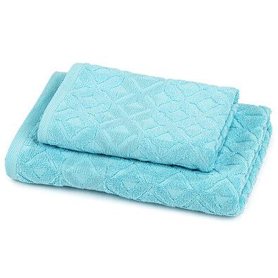 Sada Rio ručník a osuška světle modrá, 50 x 100 cm, 70 x 140 cm