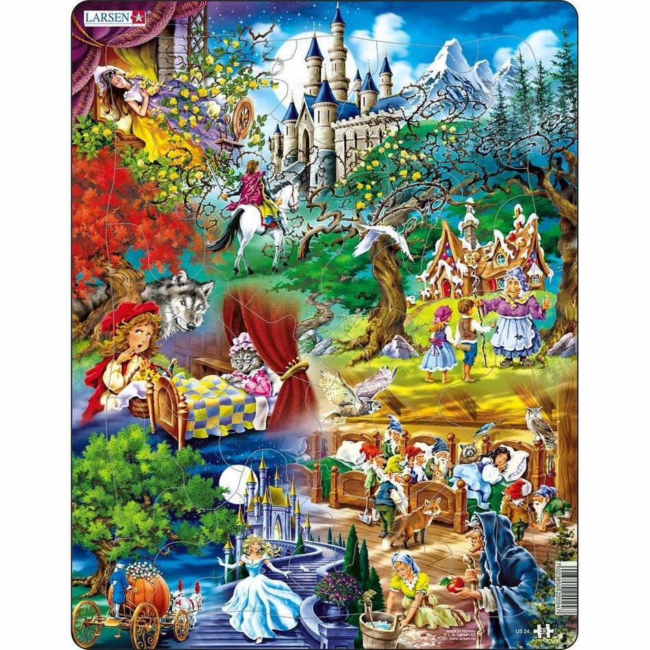 Larsen Puzzle Pohádky bratří Grimmů, 33 dílků