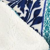 4Home Beránková deka Flowers modrá, 150 x 200 cm