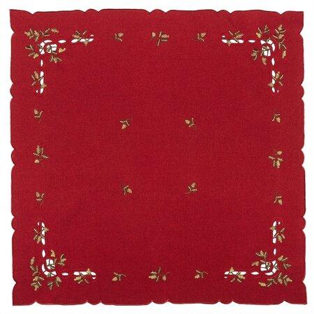 Vánoční ubrus jmelí červená, 35 x 35 cm